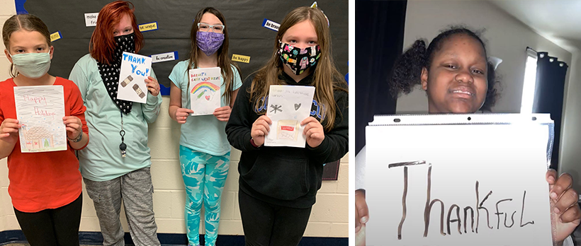 Students thank WellSpan for pandemic work with cards, letters, video